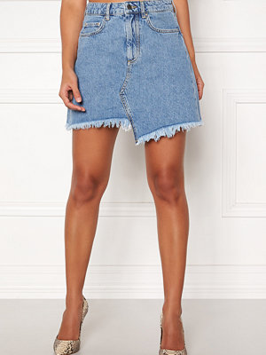 Ivyrevel Raw Edge Denim Skirt Blue