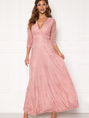 Chiara Forthi Riveria Lace Gown Dusty pink