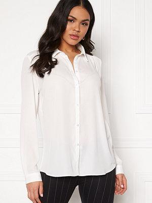 Vila Lucy L/S Button Shirt Snow White