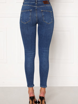 Pieces Delly Skin MW Jeans Medium Blue Denim