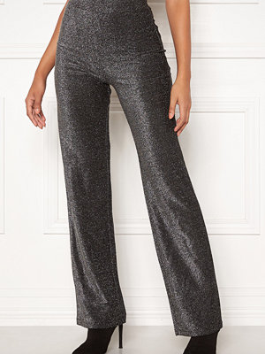 Make Way grå byxor Dila sparkling trousers Black