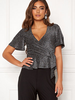 Make Way Dila sparkling top Black / Silver