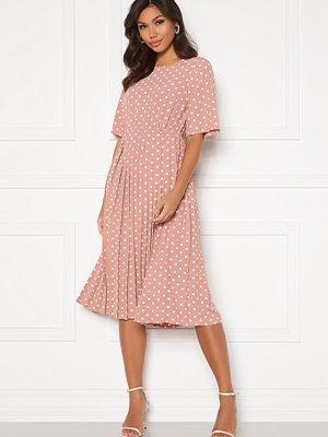 Happy Holly Eloise pleated dress Pink / Dotted