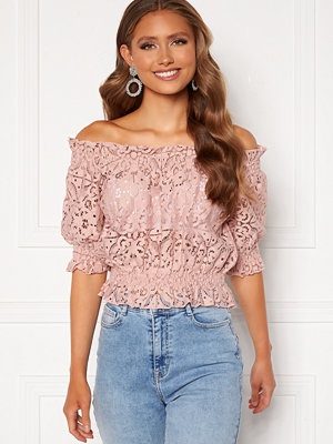 Bubbleroom Peaches off shoulder top Dusty pink