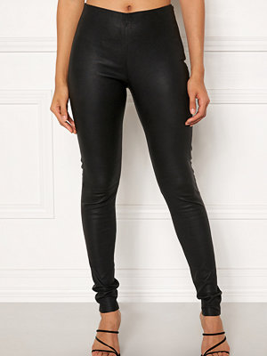 Object Tilde MW Leather Leggings Black