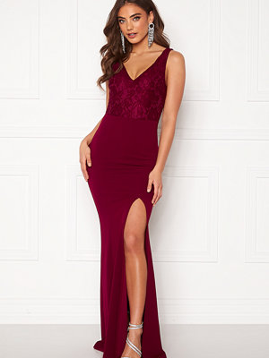 Bubbleroom Florence lace top prom dress Wine-red