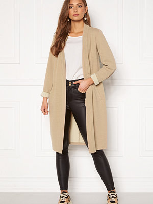 Happy Holly Stefanie tricot coat Beige