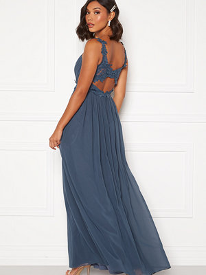 Moments New York Afrodite Chiffon Gown Blue
