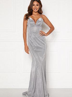 Susanna Rivieri Sparkling Fishtail Dress Silver