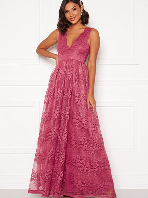 Moments New York Ella Lace Gown Raspberry red