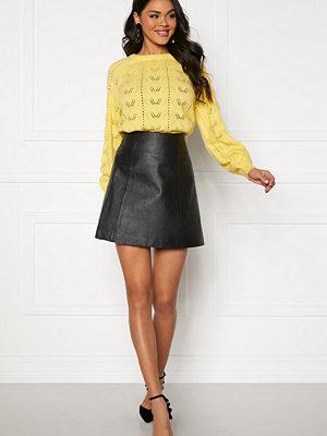 Selected Femme Bobi MW Leather Skirt Black