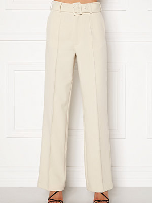 Ivyrevel omönstrade byxor Belted Suit Pants Off White