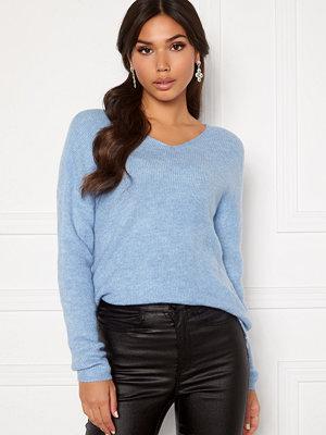 Vero Moda Crewlefile LS V-NEck Blouse Placid Blue