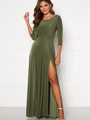 Goddiva Elegant Maxi Dress Olive