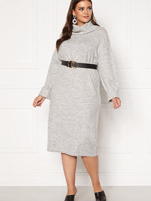 Vero Moda Curve Gaiva Cowl Neck Dress Light Grey Melange