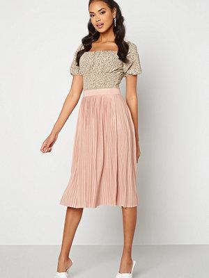 Vila Pliss Midi Skirt Misty Rose