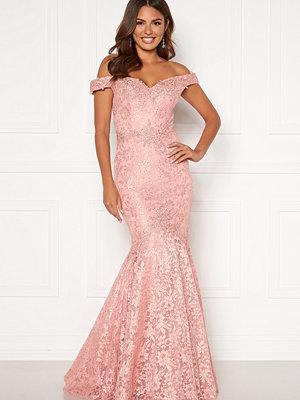 Susanna Rivieri Mermaid Lace Dress Blush