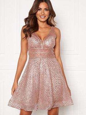 Susanna Rivieri Sparkling Short Glitter Gown Mauve