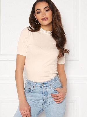 Calvin Klein Jeans Logo Trim Rib Tee PGA White Sand