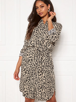 Object Bay L/S Shirt Dress Humus AOP New Animal
