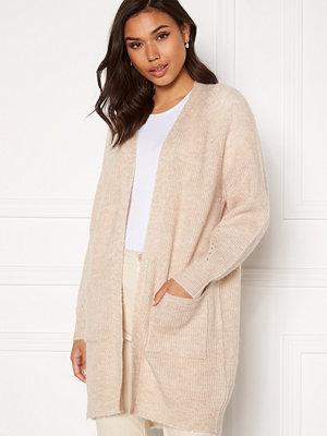 Selected Femme Lulu LS Knit Long Cardigan Birch Detail:Melange
