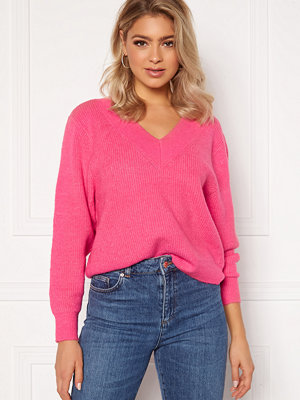 Only Tori L/S Pullover Shocking Pink
