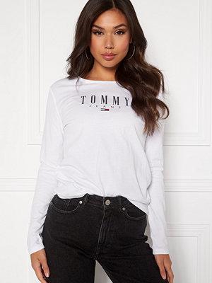 Tommy Jeans Slim LS Lala Tee YBR White