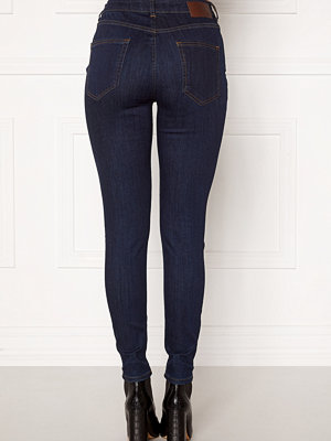 Pieces Delly MW Skinny Jeans Dark Blue Denim