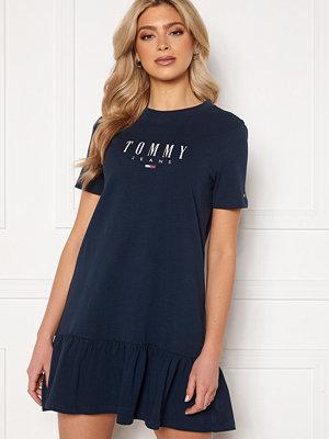 Tommy Jeans Logo Peplum Dress C87 Twilight Navy