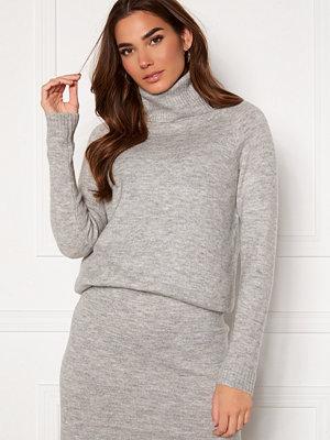 Only Cille L/S Rollneck Pullover Ligth Grey Melange