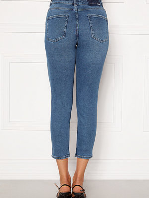 Only Erica Life Mid Ank Jeans Dark Blue Denim