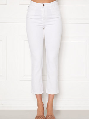 Happy Holly Peggy straight leg jeans White