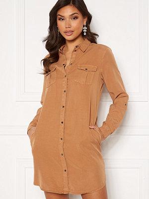 Vero Moda Silla LS Short Dress Tabacco Brown