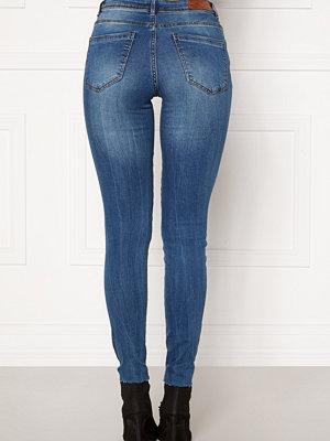 Vero Moda Tanya Piping Raw Jeans Medium Blue Denim