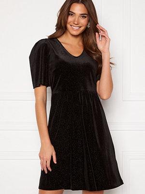 Ichi Rihanna Velvet Glitter Dress Black