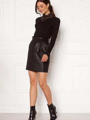 Vero Moda Eva Paperbag Short Coated Skirt Black