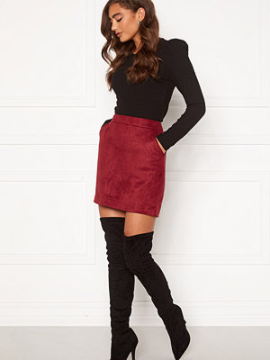 Vero Moda Donnadina Faux Suede Short Skirt Tibetan Red
