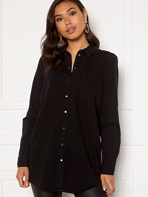 Vero Moda Mila LS Long Shirt Black