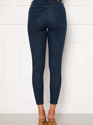 Only Power Life Mid Push Up Jeans Dark Blue Denim