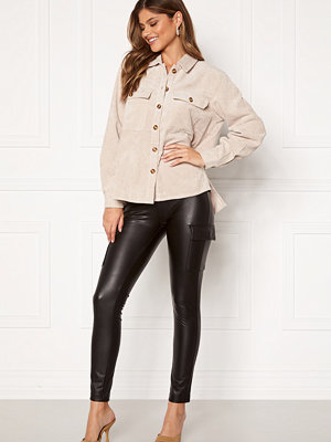 Only Miri Faux Leather Cargo Legging Black