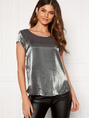 Only Vic SS Shimmer Top Silver
