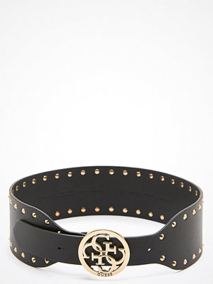 Bälten & skärp - Guess Mika Soft Waist Belt Black/Gold