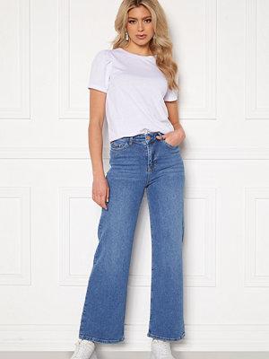 Bubbleroom June wide leg stretch jeans Medium blue