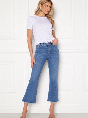 Bubbleroom Kyla kick flare stretch jeans Medium blue