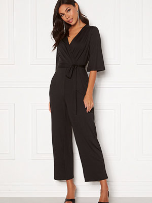 Jumpsuits & playsuits - Happy Holly Simone kimono sleeve  jumpsuit Black