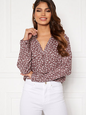 Happy Holly Iris blouse Dusty pink / Beige