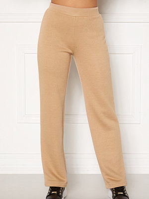 Happy Holly Jade soft pants Light beige byxor