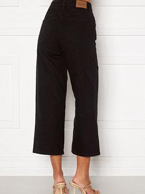 Happy Holly Pamela wide leg culotte jeans Black