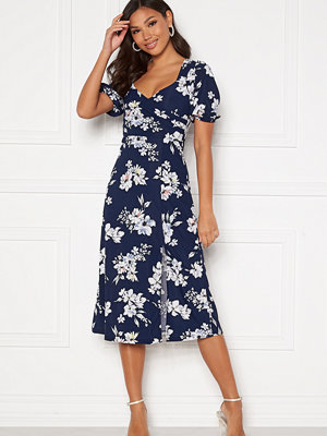 Chiara Forthi Giulia Puff Sleeve Dress Navy / Floral