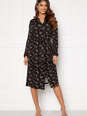 Happy Holly Milly midi dress Black / Floral